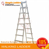 8steps Welded Walking Ladder Aluminum Ladder