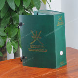 Caixa de embalagem extravagante de carimbo quente personalizada de Paper/PVC