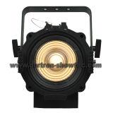 LEDフレネルの点ライト100Wは白を暖める