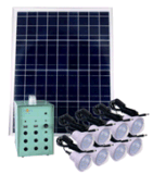 con 8PCS 3W LED Light Solar Lighting Kits