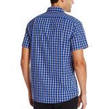 Der kundenspezifischen Männer schließen Hülsen-beiläufiges Check-Form-Hemd kurz