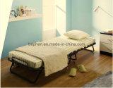 يطوي سرير وحيد يطوي سرير يصمّم يطوي سرير غرفة نوم أثاث لازم معدنة يطوي سرير مع فراش [40007ب2]