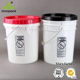 secchio di plastica della benna del coperchio con tappo a vite 20L per olio e l'olio del lubrificante