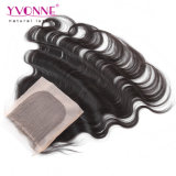Chiusura bassa di seta dei capelli umani del Virgin