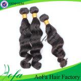 Cheveu 100% indien humain de Vierge de Remy des prix de pente bon marché de Guangzhou 7A
