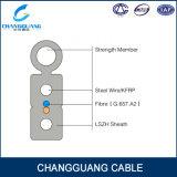 Arquear-Tipo cable de GJYXFCH de la fibra de las memorias G657A2 de la gota FTTH 2