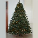 La cadena al aire libre del alambre LED de la plata del centelleo enciende el árbol de navidad artificial