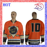 Abiti sportivi su ordine del pullover del hokey di ghiaccio di sublimazione della squadra