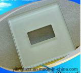 Glace de panneau de commutateur de contact avec la configuration de couleur estampée par écran en soie