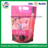 Sacchetto del vino in casella con il foro di elemento portante & del becco