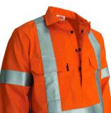 Hi куртка работы сверла хлопка отражательной безопасности визави огнезамедлительная