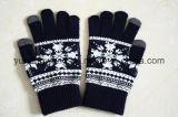 Связанные оптовой продажей акриловые теплые перчатки/Mittens жаккарда