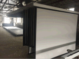 魅力的なモーターを備えられたスクリーン、大きい電気映写幕、プロジェクタースクリーン