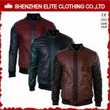 2017 выполненных на заказ людей черный PU кожаный куртка