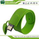 Heißer Silikon-Handgelenk USB-Flash-Speicher USB-Pendrive mit kundenspezifischem Firmenzeichen-und Fabrik-Preis