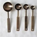 4測定スプーンの調理器具の台所道具銅カラーセット