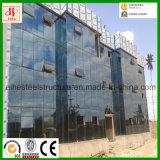 Vor-Ausgeführtes helles Baustahl-vorfabriziertgebäude mit Vorhang-Glaswand
