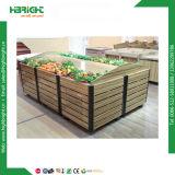 Crémaillères d'étalage de fruits et légumes de supermarché