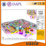 Vasia a attiré la cour de jeu d'intérieur commerciale de thème de sucrerie (VS1-160406-242A-32)