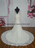 Longue robe de mariage nuptiale de sirène