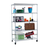 "do "" Shelving do fio cromo 18 para a fábrica com 5 camadas (MBST-06)"