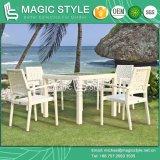 Rota que cena la silla amontonable de la tabla de cena de la silla de la flor que teje determinada (estilo mágico)