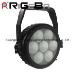 1개의 IP65 고성능 최고 호리호리한 7*25W LED 고성능 소형 알루미늄 LED 동위 빛 64에 대하여 가벼운 면도칼 Q7 옥수수 속 Rgbwy 5