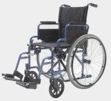 강철 Manual Transit Wheelchair, Transport Chair 및 Folding (YJ-026E)