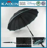 25 polegadas de guarda-chuva reto aberto do golfe do manual