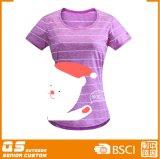 여자의 인쇄 형식 빠른 건조한 t-셔츠