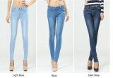 Акриловые тощие джинсыы женщин джинсовой ткани с сильным простиранием