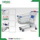 Chariots asiatiques de chariot à achats de poussée de supermarché de type