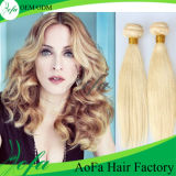 Het hete Menselijke Braziliaanse Blonde Haar Remy van de Verkoop rechtstreeks