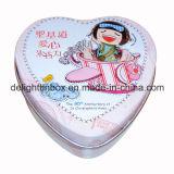 قلب شكل شوكولاطة قصدير صندوق
