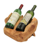 Fresco e Clean Style Wooden Wine Rack