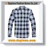 도매 주문 최상 면 격자 무늬 남자를 위한 최신 셔츠 디자인
