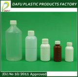 Bottiglia vuota di plastica di figura 50ml del PE bianco all'ingrosso dello sciroppo
