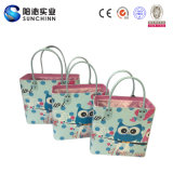 2016 Women를 위한 파랑 Owl Set 3 PU Leather Handbag