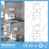 Vanità compatta di vendita calda della stanza da bagno di legno solido di stile americano (BV220W)