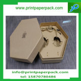 Caja de embalaje joyería hecha a mano de encargo del hexágono del arte del regalo de caramelo con bandeja interna