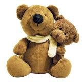 Brinquedo enchido macio do luxuoso do fantoche do animal de estimação da pele do urso da peluche para crianças