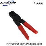 Ferramenta da compressão do CCTV para os conetores do alvo CATV F (T5008)