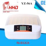 Buena incubadora Yz-56A del huevo del pollo del PCS de la alta calidad 56 del precio de Hhd