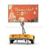 Pode transportar o reboque anunciar tela do diodo emissor de luz do móbil de Videowalls dos sinais do indicador a grande ao ar livre