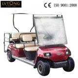 Тележка электрического гольфа мест красного цвета 6 Sightseeing (ЛТ-A4+2)