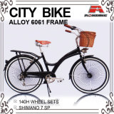 Legering 7 Snelheid 140PCS sprak de Fiets van de Stad Dame Bicycle (ays-2658S)