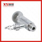 Válvulas assépticas masculinas inoxidáveis do aço 316L Samping do estilo novo