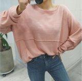 文字プリントが付いている卸し売り良質の多彩な偶然の女性のTシャツ