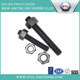Noix Hex lourde d'ASTM A194 2h avec le fini noir
