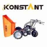 INMERSIÓN caliente que galvaniza el mini transportador de la construcción del cargador del jardín del descargador de tres ruedas